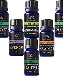 Radha-Beauty-Aromatherapy-Top-6-Essential-Oils-100-Pure-Therapeutic-grade-Basic-Sampler-Gift-Set-Premium-Kit-610-Ml-Lavender-Tea-Tree-Eucalyptus-Lemongrass-Orange-Peppermint-0